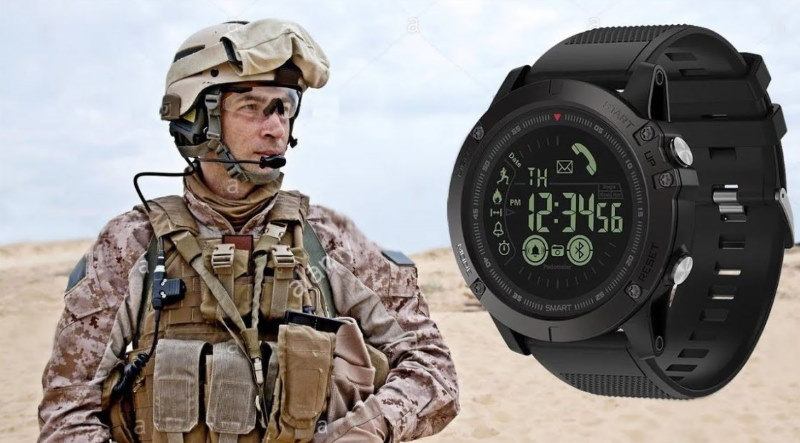 army man wearing tactical watch