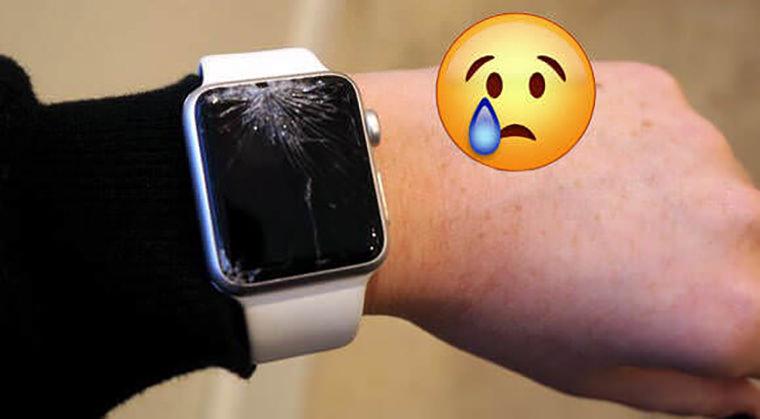 smashed smartwatch